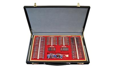 Boîtes de 266 verres d'essai cerclés métal