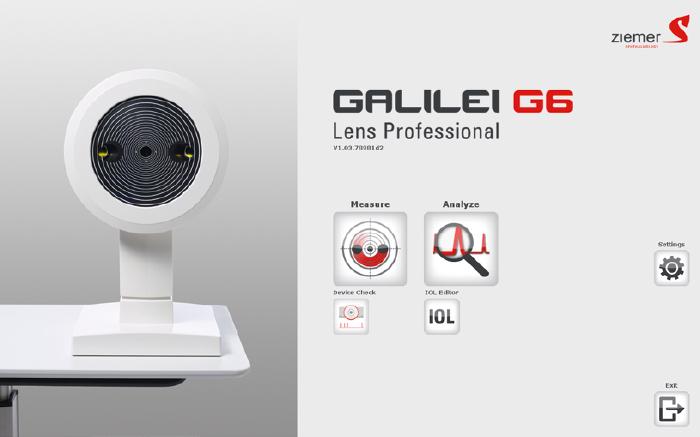 Interface logicielle intuitive - GALILEI G6 - Ziemer