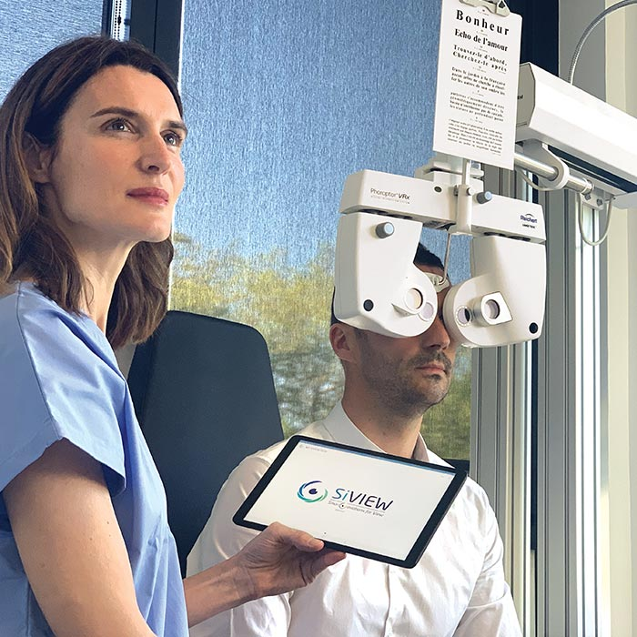 La réfraction assistée par IA - SiVIEW - télémédecine